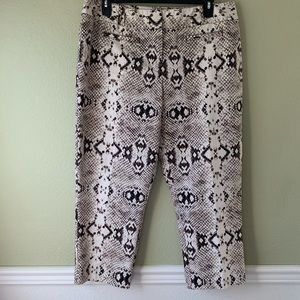 Worthington Women's Snakeskin Print Capris Pants